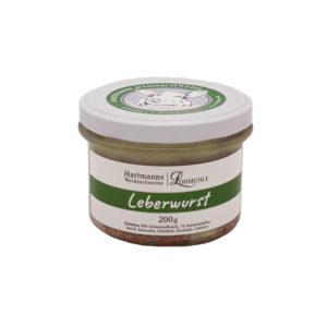 Leberwurst Hartmanns Weideschweine 200g Ries 1