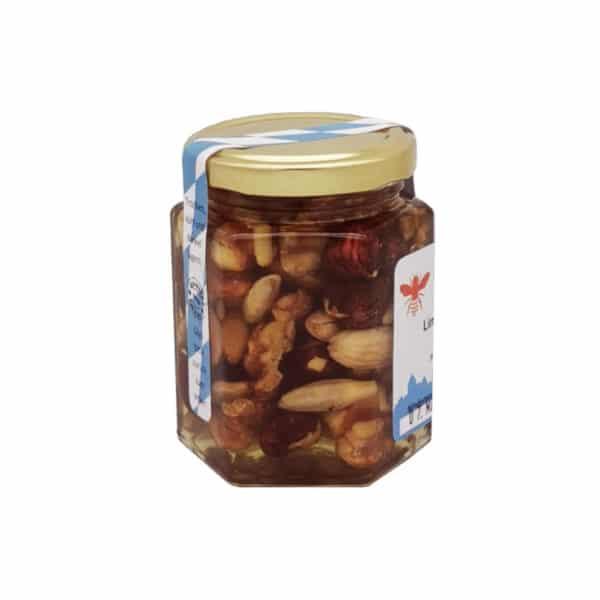 Honigge Nuss Limited Edition Imkerei Carl Utzwingen 250Gramm gemischt Seitenansicht