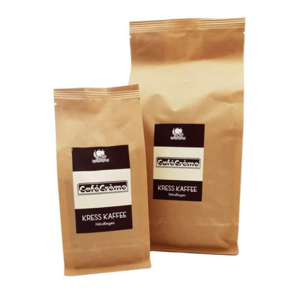 Kress Kaffee CafeCrema zusammen
