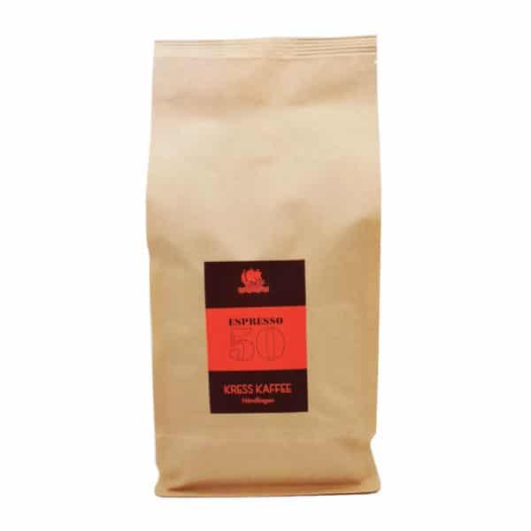 Kress Kaffee Espresso 50 1000 Gramm Packung