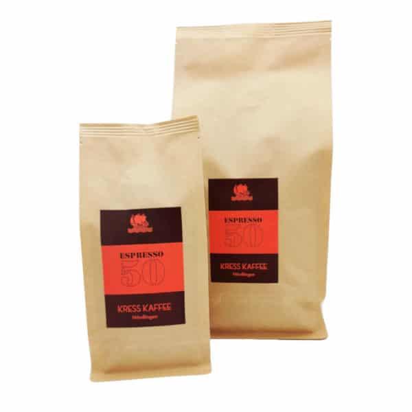 Kress Kaffee Espresso 50 zusammen