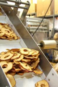 Broeg Trockenfruechte Produktion Apfelchips fertig