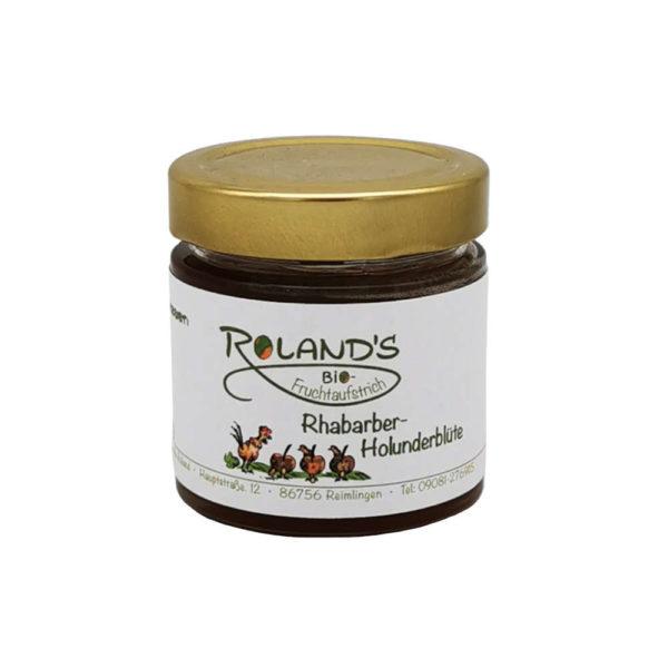 Roland´s Biohof Rhabarber Holunderbluete Fruchtaufstrich