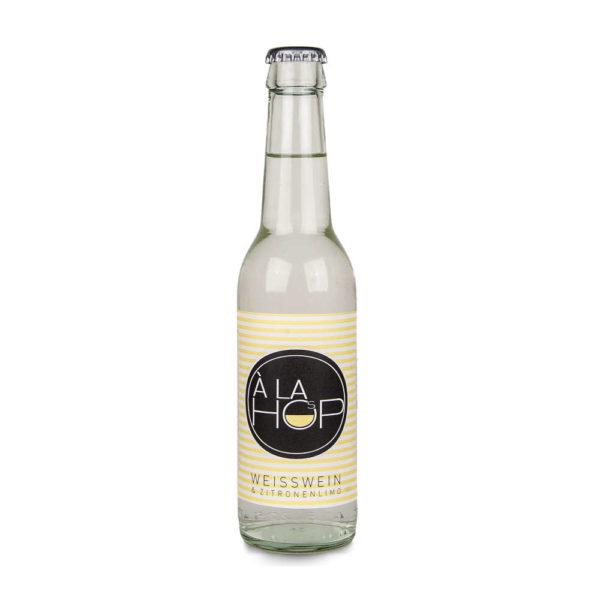 Alahop die Weinschorle Weisswein mit Zitronenlimonade