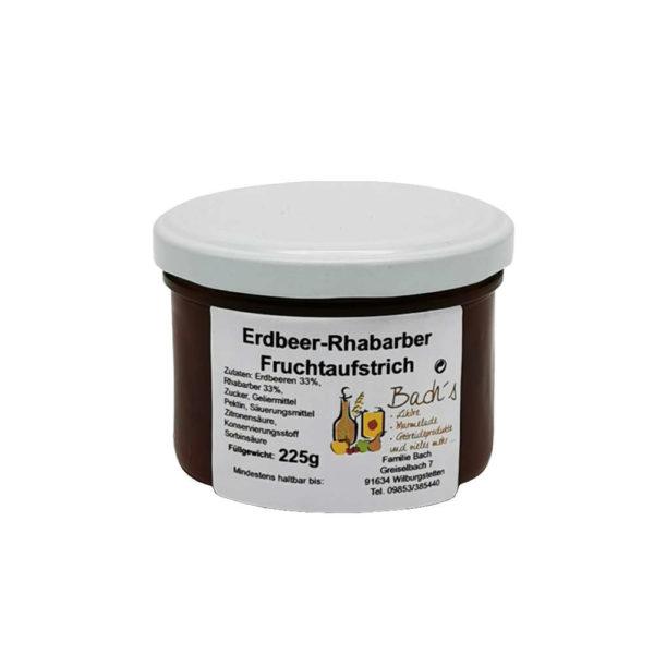 Bachs Hofladen Erdbeer Rhabarber Fruchtaufstrich