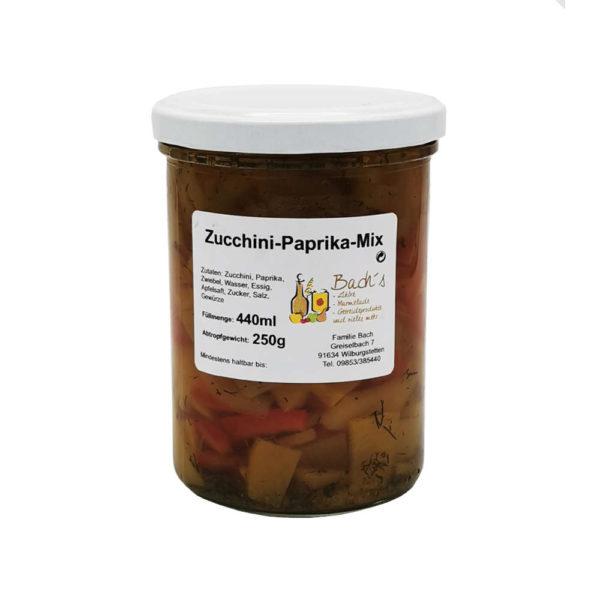Bachs Hofladen Zucchini Paprika Mix Frontansicht