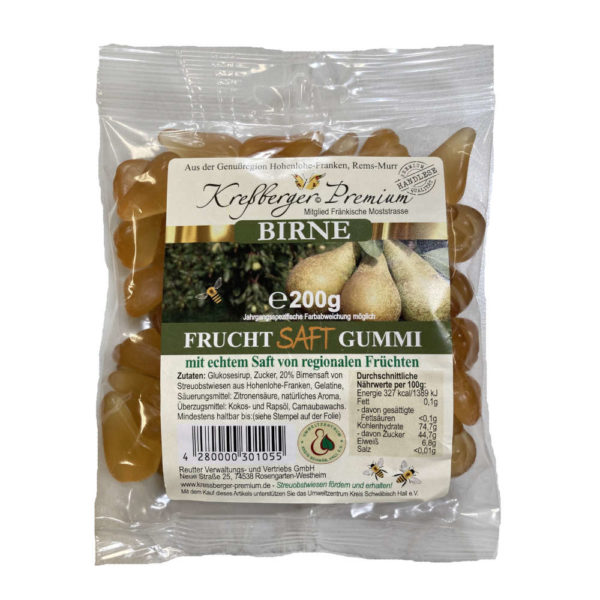 Kressberger Premium Birne Fruchtgummi