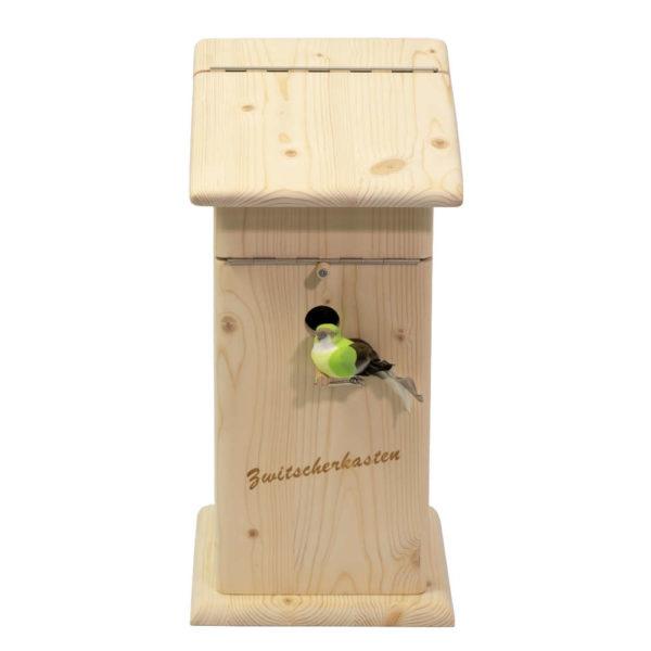 Moll Holzdesign Zwitscherkasten Forderansicht
