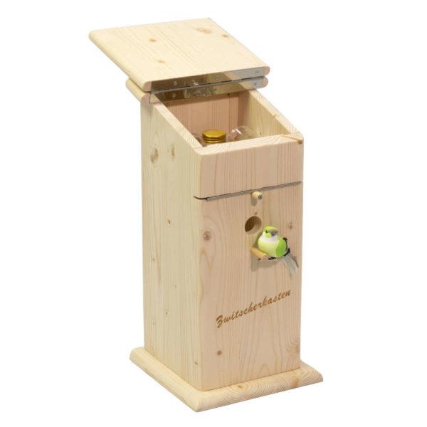 Moll Holzdesign Zwitscherkasten Seitenansicht